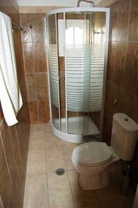 Badezimmerbeispiel Appartements Sofia auf Korfu